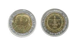 Ограниченный тираж 10 монеток Таиланда бата Стоковые Фотографии RF