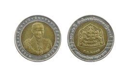 Ограниченный тираж 10 монеток Таиланда бата Стоковые Изображения RF