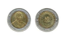 Ограниченный тираж 10 монеток Таиланда бата Стоковые Фото