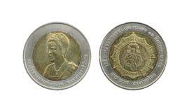 Ограниченный тираж 10 монеток Таиланда бата Стоковое Изображение RF