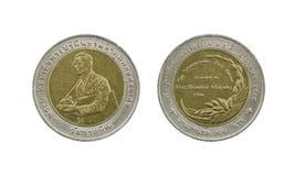 Ограниченный тираж 10 монеток Таиланда бата Стоковая Фотография