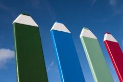Оградите сделано из больших карандашей Стоковая Фотография