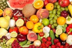 Огромная группа в составе свежие овощи и плодоовощи Стоковые Изображения RF