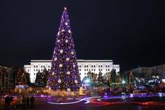 Огромная рождественская елка Стоковые Фотографии RF