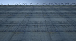 Огромная стена высокого уровня безопасности бесплатная иллюстрация