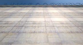 Огромная стена высокого уровня безопасности иллюстрация вектора
