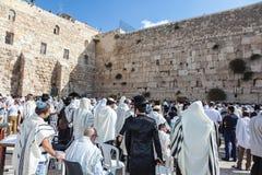Огромная толпа верных евреев Стоковое Изображение