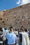 Огромная толпа верных евреев Стоковое Фото