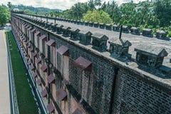 Огромная тюрьма в Port Blair, взгляд сверху стоковая фотография rf