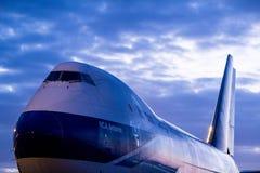 Огромное воздушное судно Боинга 747, один из ai мира самого красивого стоковое изображение rf