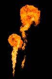 Огромное изолированное горение огня Стоковое Изображение RF