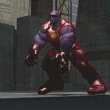 Огромной супергерой снятый кожу с синью Стоковые Фотографии RF