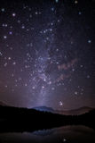 Огромные звезды мерцания с млечным путем Стоковое Изображение