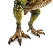 Огромные ноги тиранозавра, игрушки динозавров Стоковая Фотография
