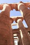 Огромные столбцы как висок Karnak цветка лотоса Стоковые Изображения RF