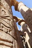 Огромные столбцы как висок Karnak цветка лотоса Стоковые Изображения