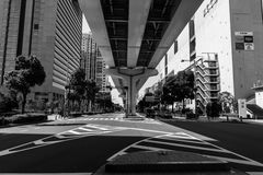 Огромные улицы в Японии Стоковая Фотография RF