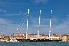 Огромные 3 masted шхуна в Венеции Стоковая Фотография RF