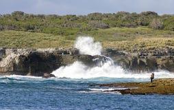 Огромный национальный парк Booderee острова Bowen удара волн NSW австрийцев стоковое фото rf