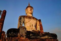 Огромный национальный парк Sukhothai статуи Будды Стоковое Изображение RF