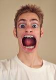 огромный рот screaming Стоковая Фотография