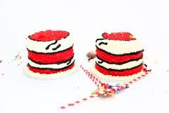 Огромный успех торта для двойных младенцев Стоковое фото RF