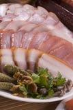 Огурец, копченое мясо и овощи Стоковая Фотография