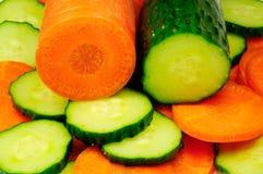 огурец моркови Стоковая Фотография