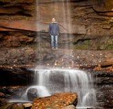 огурец падает над водой вуали Стоковое Фото