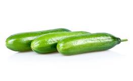 огурцы зеленеют изолированные зрелые 3 стоковое изображение rf