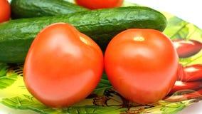 Огурцы и томаты стоковое изображение