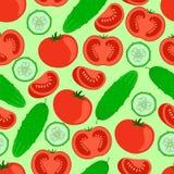 Огурцы и томаты Стоковое фото RF