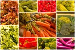 огурцы мозоли коллажа колокола включая другой овощ томата перца Стоковая Фотография RF