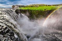 Оглушать Dettifoss водопад, Исландия стоковое изображение