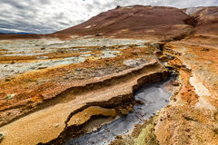Оглушать Namafjall местность, Исландия Стоковые Фото