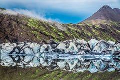 Оглушать Vatnajokull ледник и озеро, Исландия стоковые изображения rf