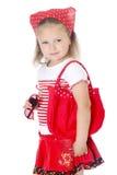 одевает детенышей девушки красных стильных Стоковое фото RF