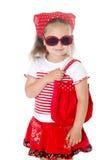 одевает детенышей девушки красных стильных Стоковые Фотографии RF