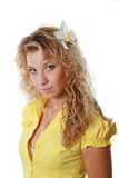 одевает желтый цвет девушки Стоковое Фото