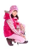 одевает зиму девушки нося стоковые фотографии rf