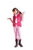 одевает зиму девушки стоковые фотографии rf