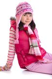 одевает зиму девушки стоковые изображения