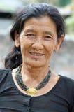 одевает национальную женщину protrait Стоковое Фото