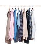 Одевает hange стоковые фотографии rf