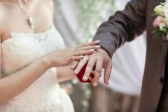 Одевать обручальные кольца armourer Отсутствие сторон видимых стоковые изображения