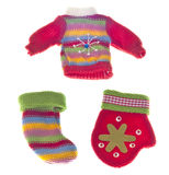 одевая установленная теплая зима Стоковое фото RF