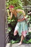 одевая этническая девушка Стоковые Изображения RF