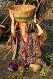 одевая этническая женщина Стоковые Изображения