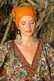 одевая этническая женщина Стоковое фото RF