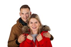 Одежда зимы пар нося стоковые фотографии rf